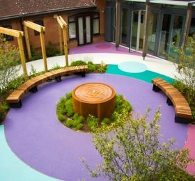 Greenfingers Charity Garden Opened by TV gardener Adam Frost at Keech Hospice, Luton