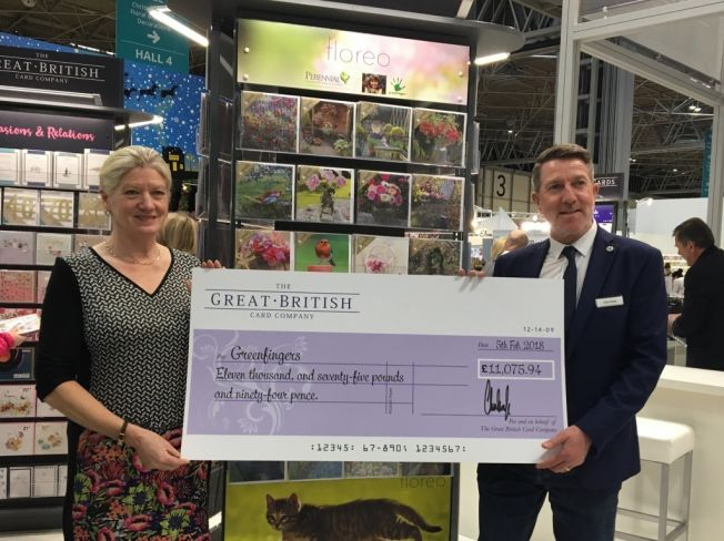 Great British Card Company raise £11,000 for Greenfingers
