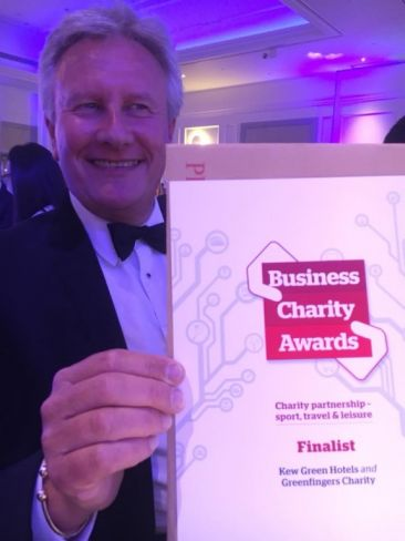 Greenfingers and Kew Green Hotels honoured to be finalist in the Business Charity Awards.
