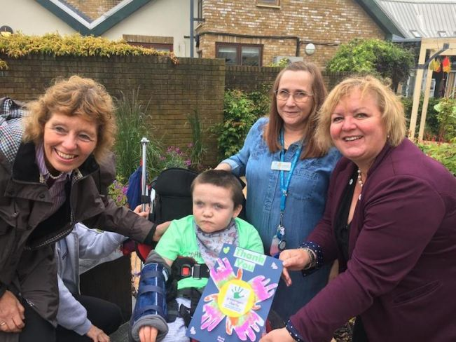 Greenfingers open new hospice garden at Claire House, Bebington, Wirral