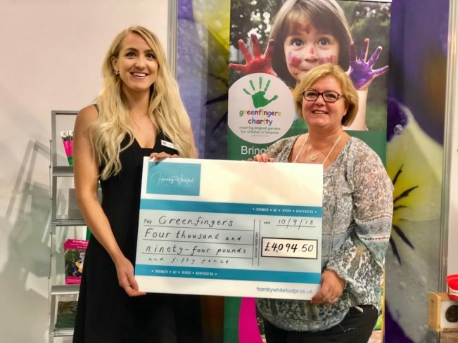 Hornby Whitefoot PR's fabulous year of helping Greenfingers Charity