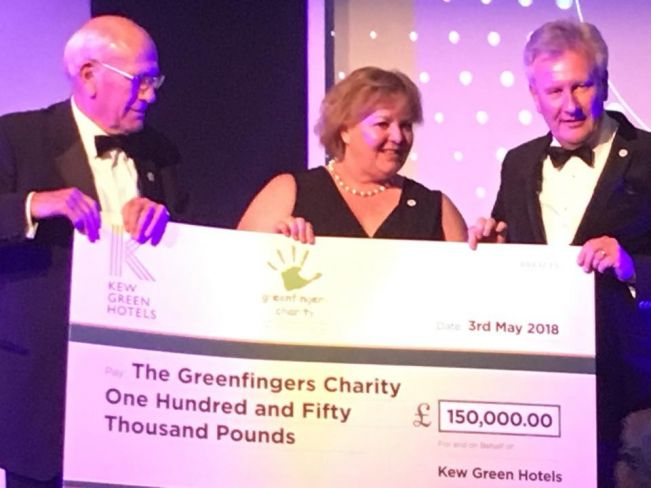 Kew Green Hotels fundraising for Greenfingers surpasses £150,000