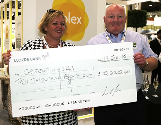 LOFA present £10,000 cheque to Greenfingers