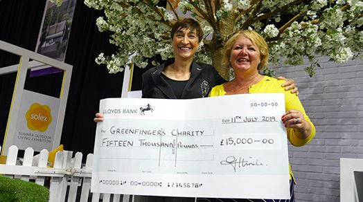 LOFA present £15,000 to Greenfingers at SOLEX
