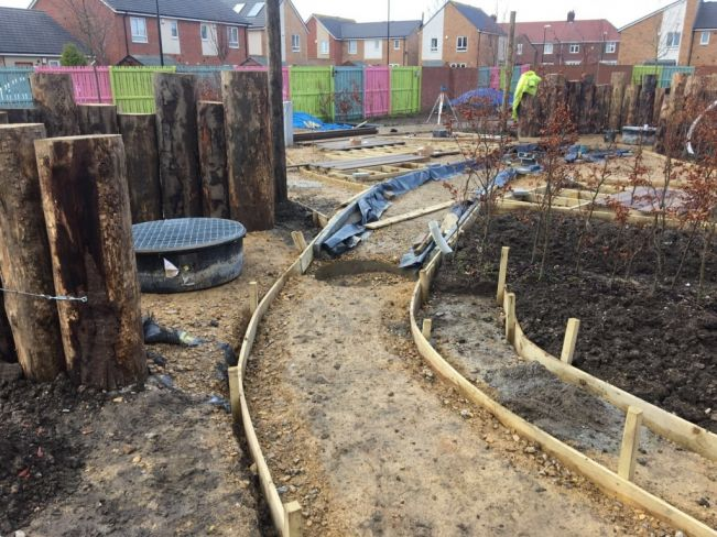 Magical 'Nest to Rest' Greenfingers Garden takes shape