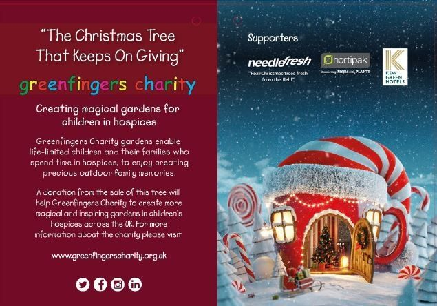 Needlefresh back Greenfingers Charity with Christmas Tree initiative at Glee