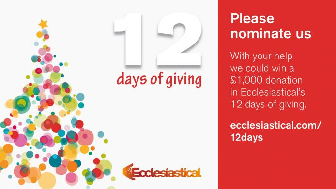 Nominate Greenfingers to win £1k in Ecclesiastical's '12 Days of Giving'