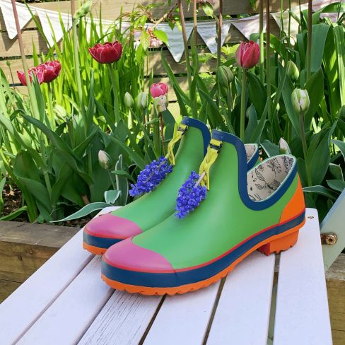 Poddy & Black's Stylish Garden Footwear Supports Greenfingers Charity