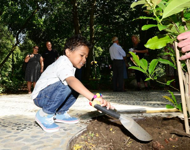 The 'Let's Explore' Greenfingers garden opens at Richard House Children's Hospice