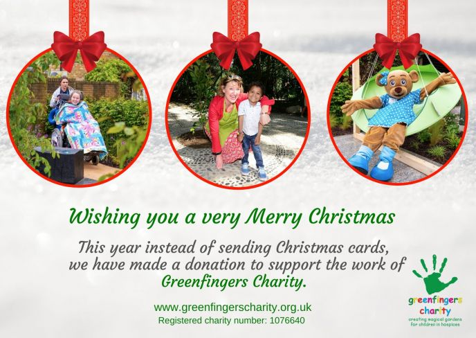Why not send Greenfingers Greetings this Christmas?