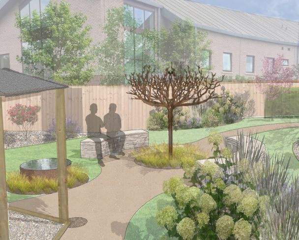 Work begins on Remembrance Garden at Rainbows Hospice